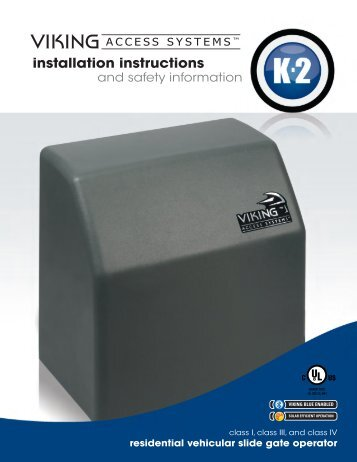 K-2™ Installation Manual - Viking Access