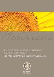 SOMMER UND HERBST IM HENRICUS AN DER FRAUENKIRCHE ...
