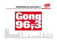 weitester hörerkreis - Radio Gong 96,3