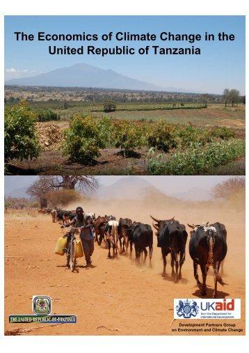 The Economics of Climate Change in the United Republic of Tanzania