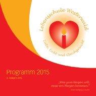 Lebensschule Westerwald Programm 2. Halbjahr 2015