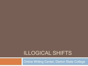Illogical shifts - Darton College