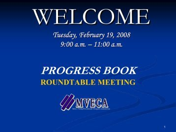 progress book roundtable meeting - mveca-home