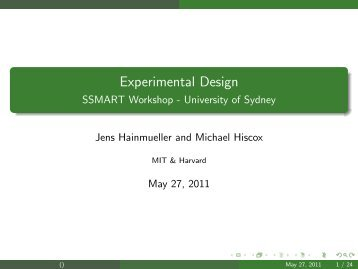 Workshop on experimental design and data analysis with for Experiential design sydney