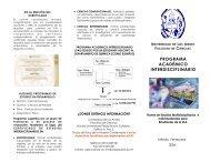Triptico PAI - Facultad de Ciencias - Universidad de Los Andes