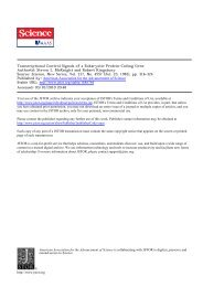 Transcriptional Control Signals of a Eukaryotic Protein ... - Biology