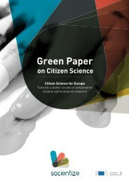 Green Paper on Citizen Science 2013