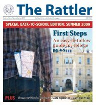 The Rattler August 18, 2009 v. 97 Back To School ... - Blume Library