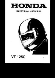 VT125C 2000-03 käsikirja (.pdf, 1.87 MB) - Honda