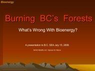 Bioenergy - BC Sustainable Energy Association