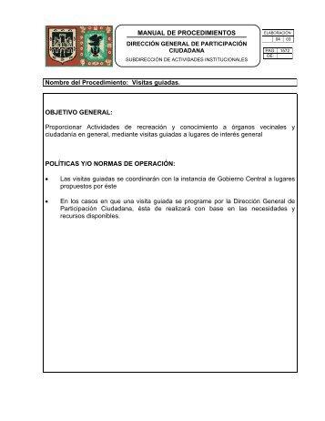 MANUAL DE PROCEDIMIENTOS Nombre del Procedimiento ...