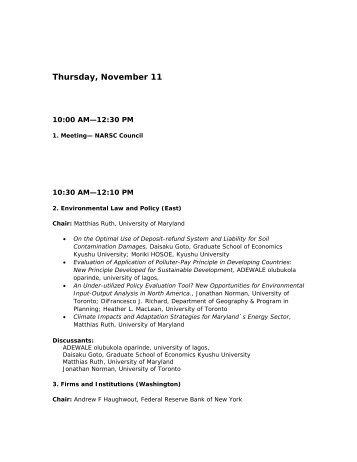 Final Program (PDF) - North American Regional Science Council