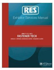 Exhibitor Services Manual - Fastener Technology International