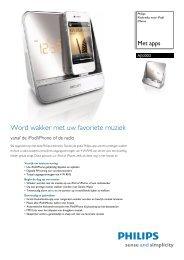 AJ5300D/12 Philips Klokradio voor iPod/iPhone