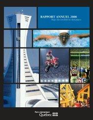 Rapport annuel 2008 - Parc olympique de Montréal