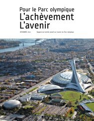 Rapport final du Comité-conseil sur l'avenir du Parc olympique