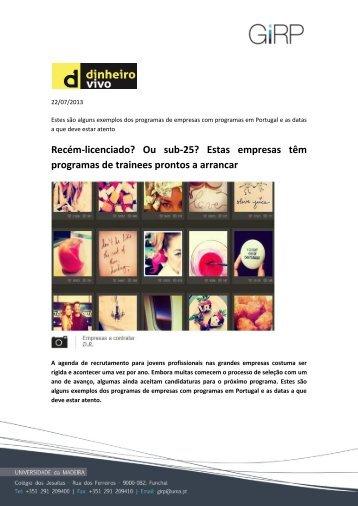 Revista de Imprensa: 26 de Novembro de 09 - Moodle