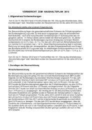 2013 - Vorbericht zum Haushaltsplan - Rosenfeld