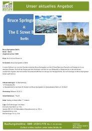 Bruce Springsteen Berlin - Eventreisen - Trierischer Volksfreund
