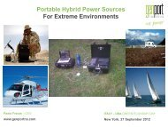 Portable Hybrid Power Sources For Extreme Environments - Corrente