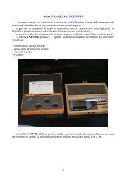 Taratura del Micrometro per esterni - ITIS G. Galilei