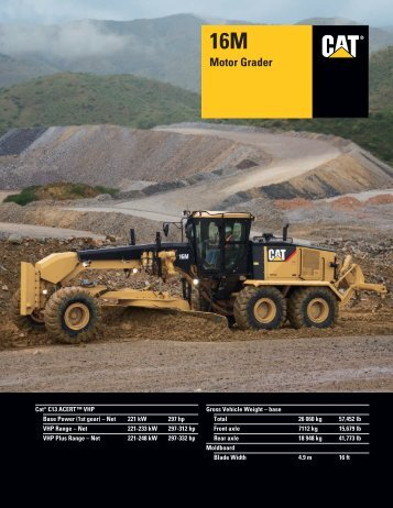 Specalog for 16M Motor Grader, AEHQ5734 - Milton CAT