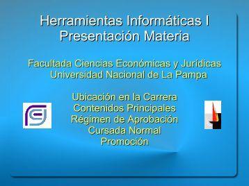 0_Presentacin_de_la_Materia_2013 - Facultad de Ciencias ...