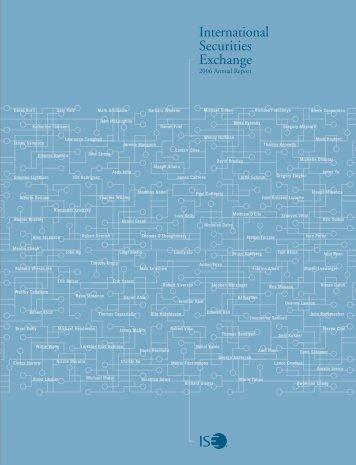 2006 Annual Report - ISE.com