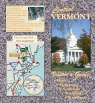 Central Vermont Visitor's Guide
