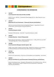 Correspondence Agenda - Ordinary Council Meeting - 25 June 2013