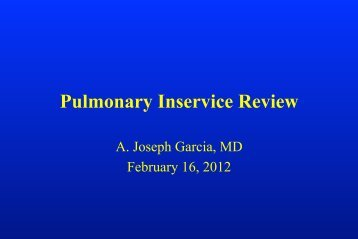 Pulmonary Inservice Review