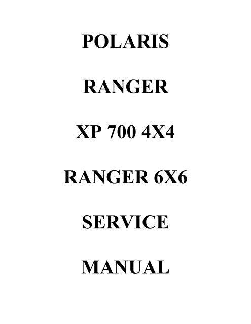 2005-2006 polaris ranger tm/ranger 2x4 4x4, 2005 ranger 6x6.