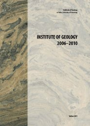 Institute of Geology 2006-2010 (large file, 25MB) - Geoloogia Instituut