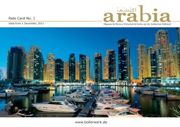 Rate Card No. 1 www.bollerwerk.de - Arabia Magazin