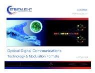 Optical Communications Technology and Modulation Formats 16 ...