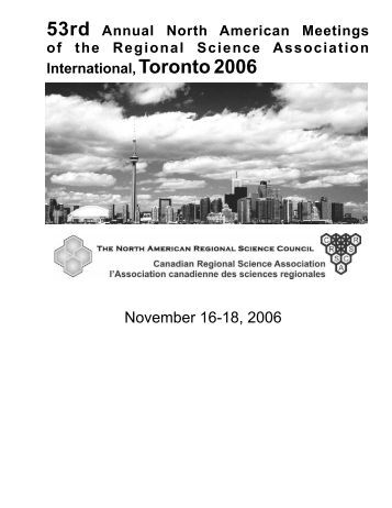 Final Program (5MG PDF) - North American Regional Science Council
