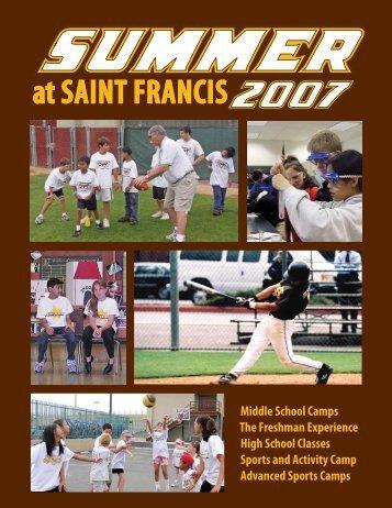 Catalogue - Saint Francis High School