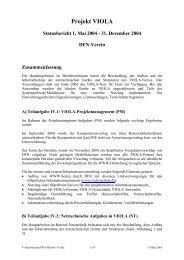 Projekt VIOLA Statusbericht 1. Mai 2004 - DFN-PKI - DFN-Verein