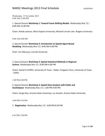 Updated 10/24/2013 - North American Regional Science Council