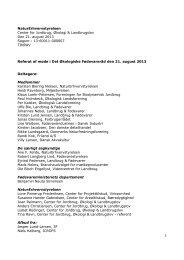 Referat af møde i Det Økologiske Fødevareråd den 21. august 2013 ...