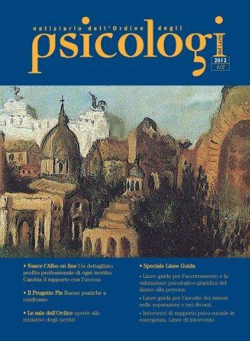 Notiziario n. 1-2/2012 - Ordine degli Psicologi del Lazio