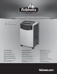 User manual (pdf) - Fellowes