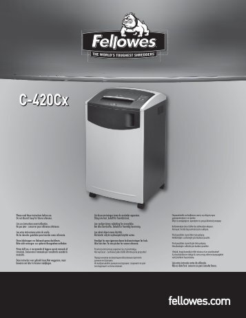 User manual (pdf) - Fellowes