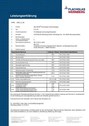 delodur k (pdf 298 kb) - FLACHGLAS Wernberg