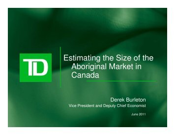 Estimating the Size of the Aboriginal Market in Canada - Canadian ...