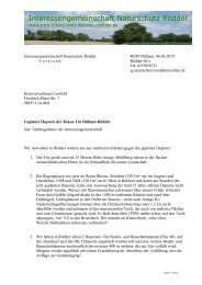 Stellungnahme der IG an den Landrat des Kreises COE
