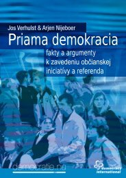 fakty a argumenty k zavedeniu občianskej iniciatívy a referenda