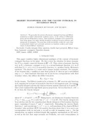 HILBERT TRANSFORMS AND THE CAUCHY INTEGRAL IN ...
