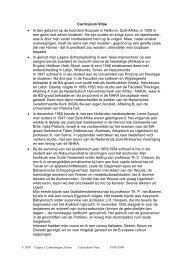 Curriculum Vitae van professor C - labuschagne