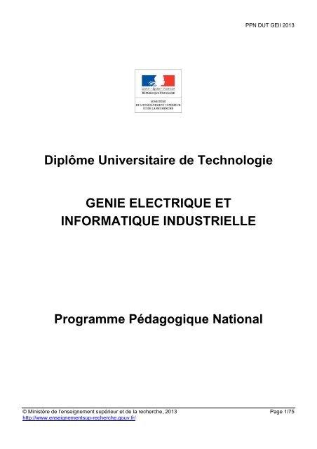 Ppn Geii Ministère De L Enseignement Supérieur Et De La